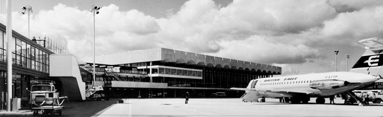 Glasgow Airport. View of terminal building, 1966. SC684948