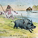 Wild boar hunt at Dumbuck Crannog, West Dumbartonshire - Strathclyde