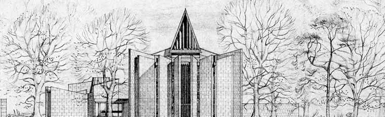 Mortonhall Crematorium. Perspective drawing, 1961. SC844223