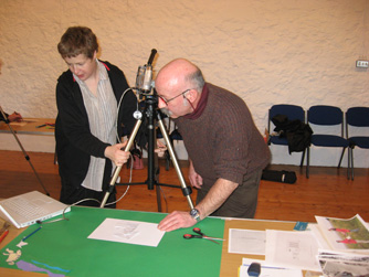 participants explored a selection of RCAHMS collection material