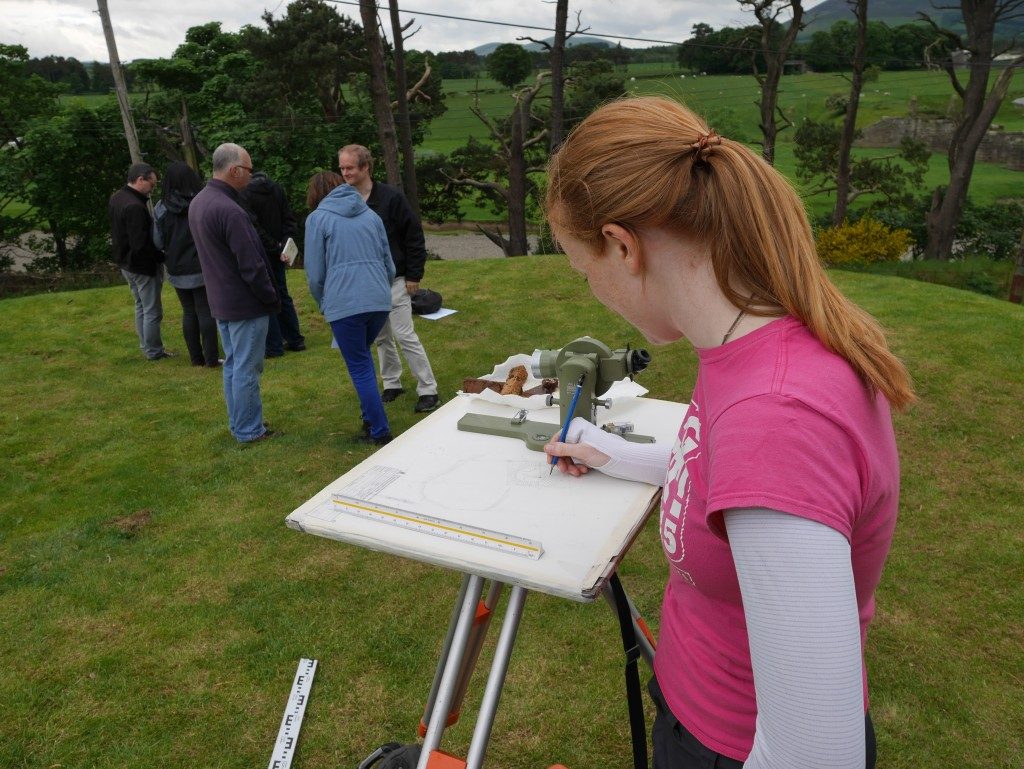 Ali McCaig, (RCAHMS surveyor) created a survey record of Coulter motte with Will Wyeth (PhD student).
