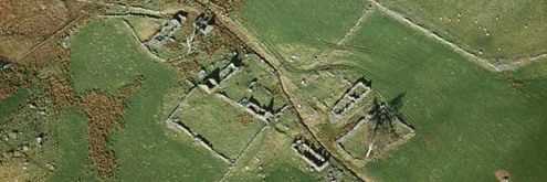 Aerial shot of settlement